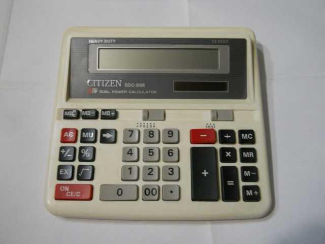 Продам калькулятор Citizen SDC 898