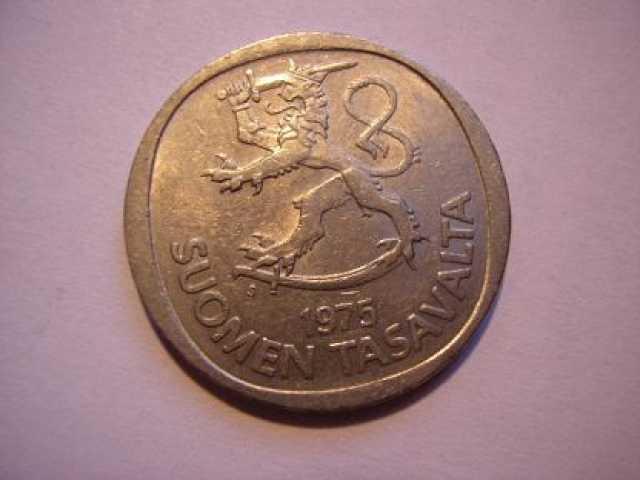 Продам: Монета 1 марка Финляндия 1975г