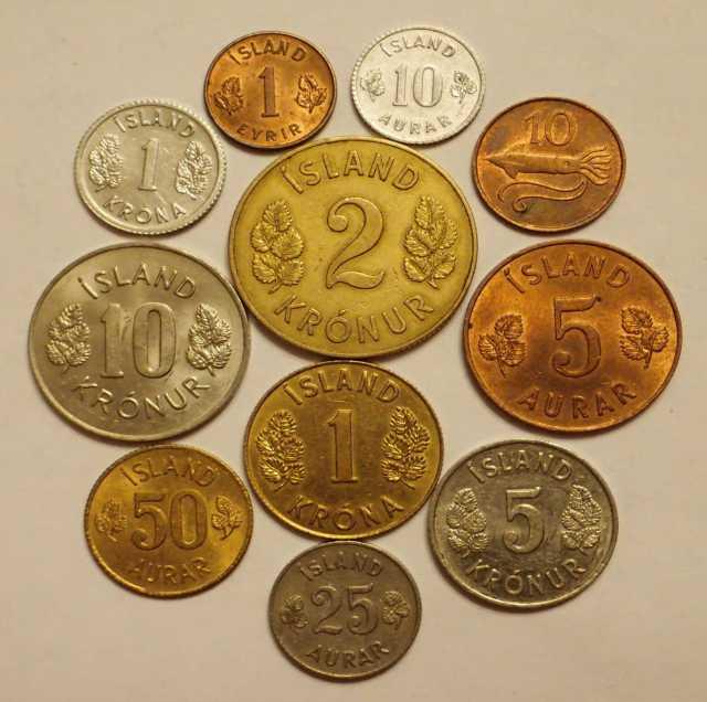 Продам: Набор исландских монет разных лет по 10
