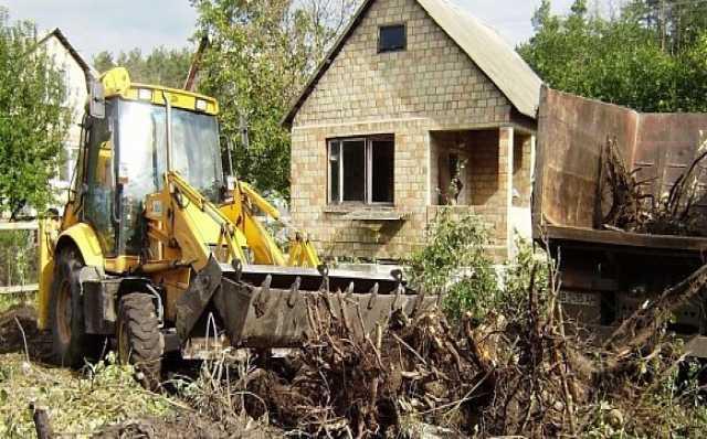 Предложение: Расчистка участка. Снос дома. Вывоз мусора