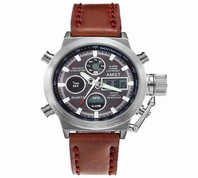 Продам  Армейские часы AMST(Серебристый корпус)