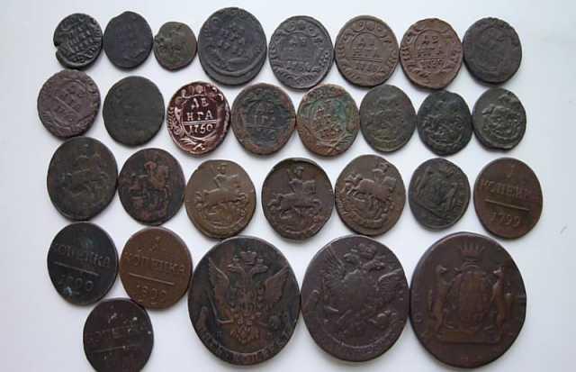 Продам: 14 5-копеечных монет- царизм