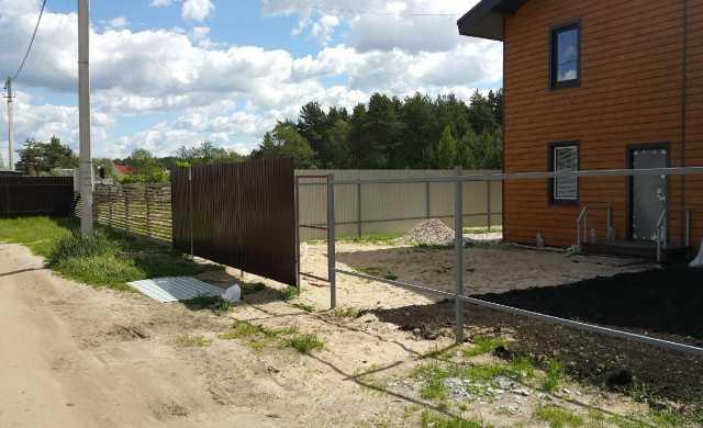 Предложение: Установим, починим забор, ограждение