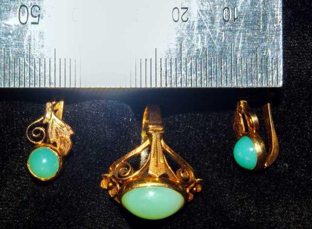 Продам Винтажные золотые кольцо и серьги с хриз