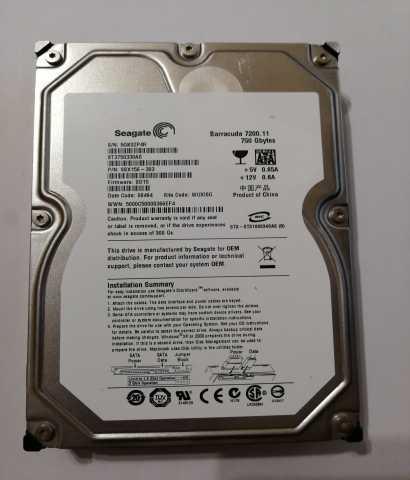 "Продам Жёсткий диск 3.5"" 750 Gb SATA Seagate Ba"