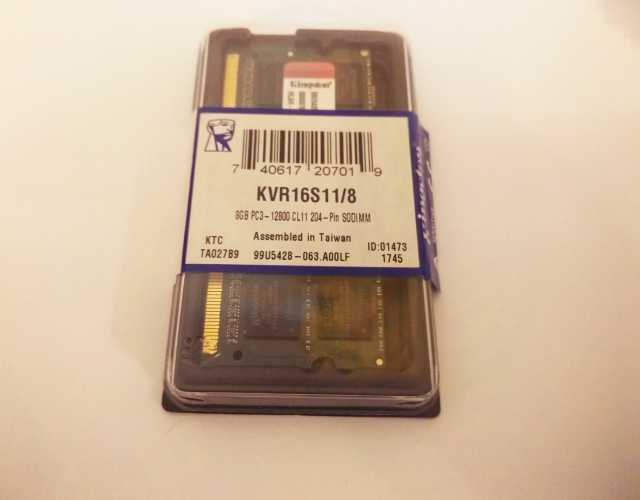 Продам 3 Kingston DDR3 SO-dimm 8GB