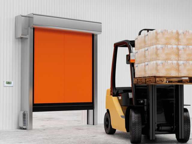 Продам: Скоростные рулонные ворота для морозильн