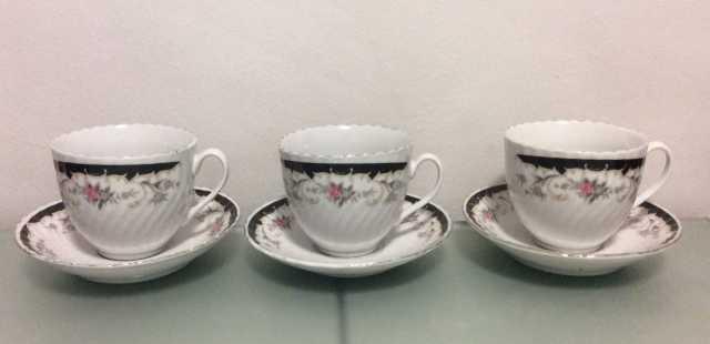 Продам Чайные чашки с блюдцами. Обмен