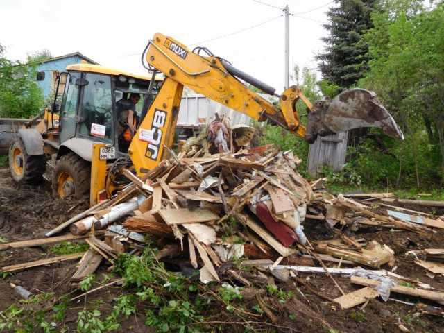 Предложение: Спил деревьев. Расчистка участка. Снос старого дома
