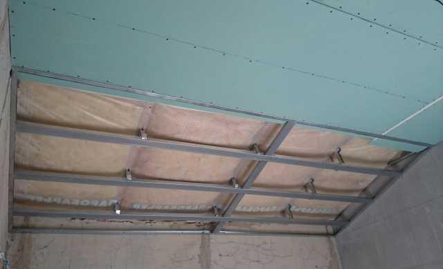 Предложение: устройство потолков