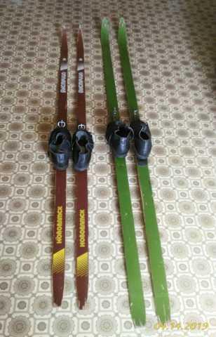 Отдам даром: Лыжи с ботинками