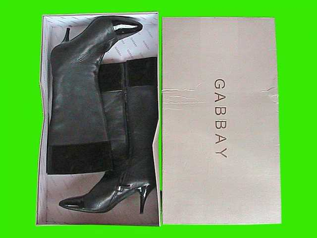 Продам: сапоги женские кожаные чёрные бу итальян