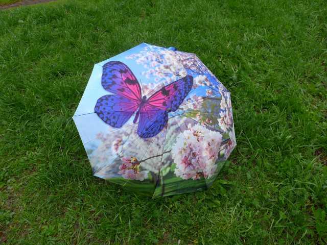 Продам Зонт 3D бабочка фиолетовый, женский