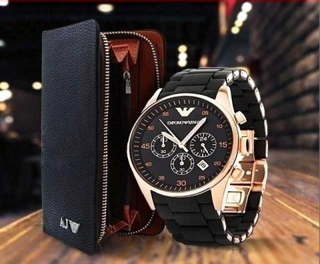 Продам комплект часы Emporio Armani в Москве (п