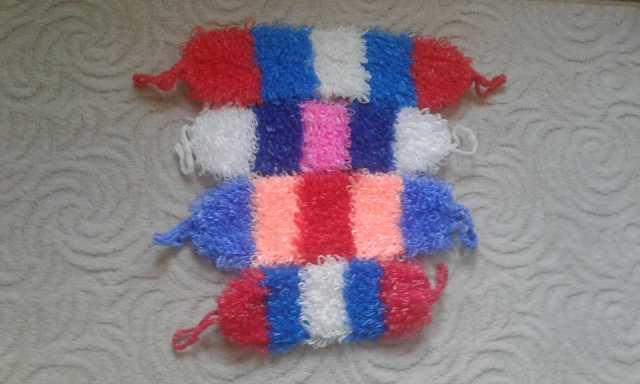 Продам Мочалки, вязанные в 2 нитки