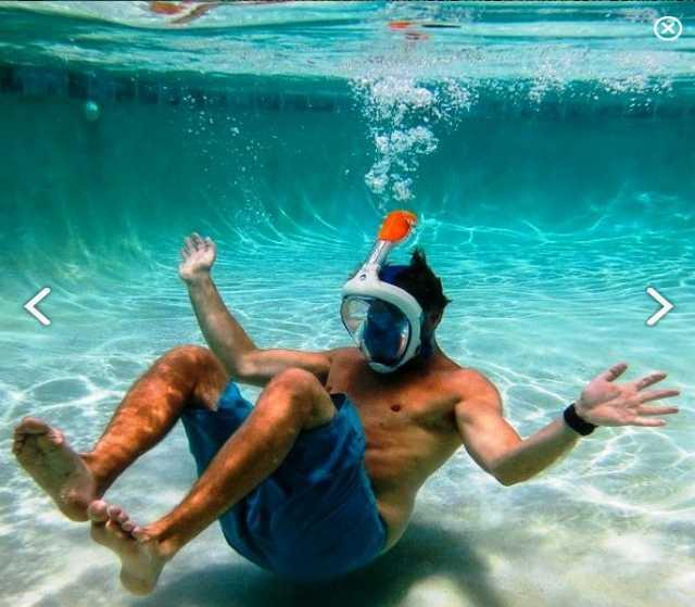 Продам Новая маска на все лицо для плавания