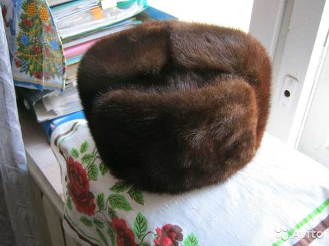 Продам шапка мужская меховая (норка) размер 62