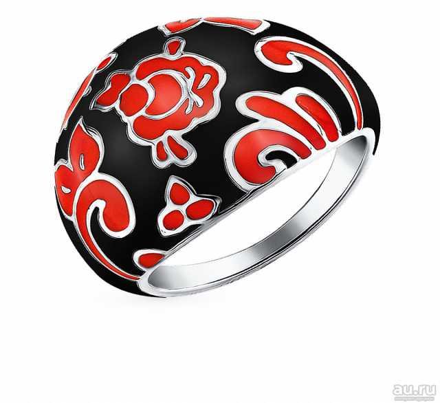 Продам: Кольцо серебряное с эмалью Sokolov НОВОЕ