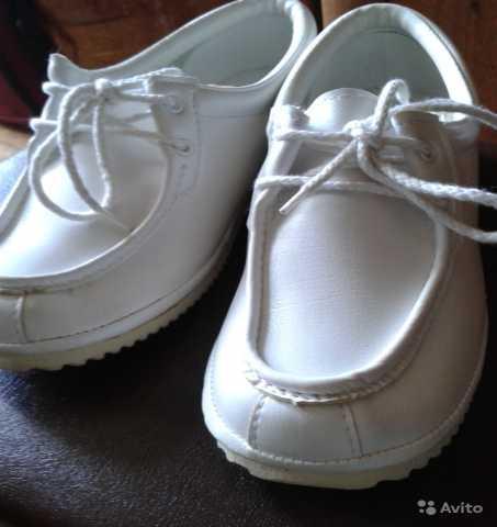 Продам: Мокасины-туфли женские белые новые р. 37