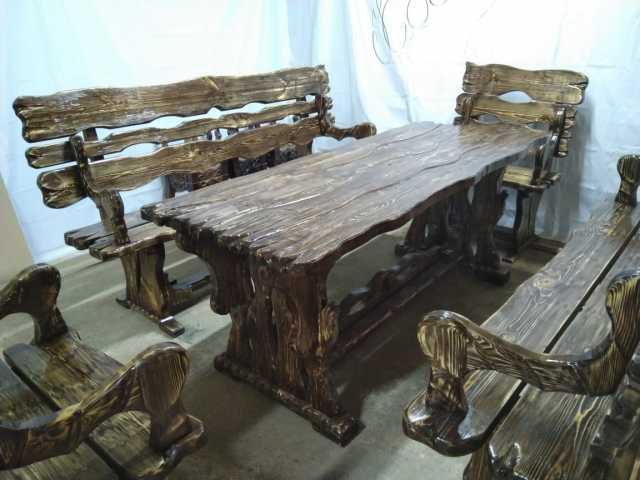 Продам Комплект стол 2 скамьи и 2 кресла