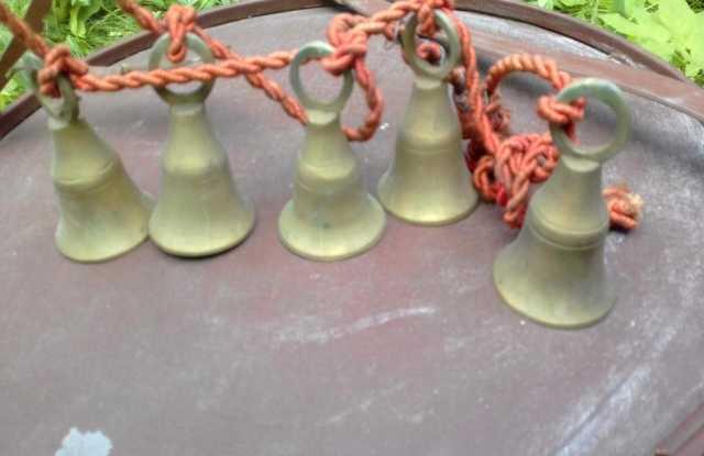Продам старинные колокольчики, связка 5 шт