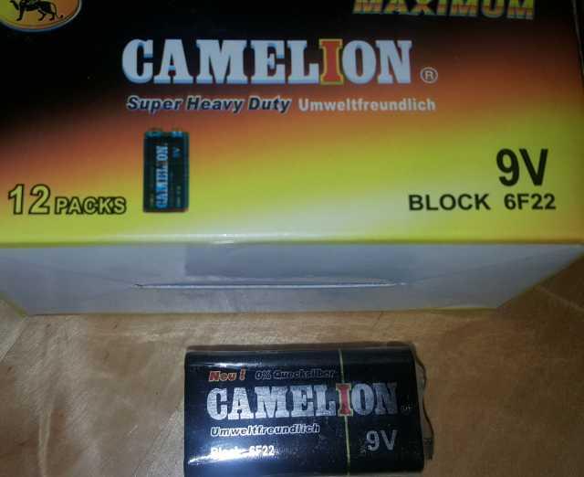 Продам Новые Крона Camelion 9V-6F22/есть 12 шт