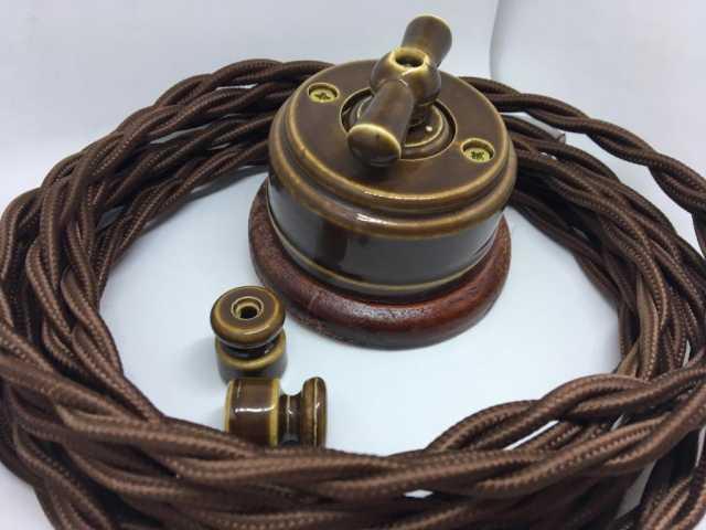 Продам Купить ретро кабель и изоляторы