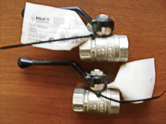 Продам Краны шаровые, новые, Bugatti, Италия. 2