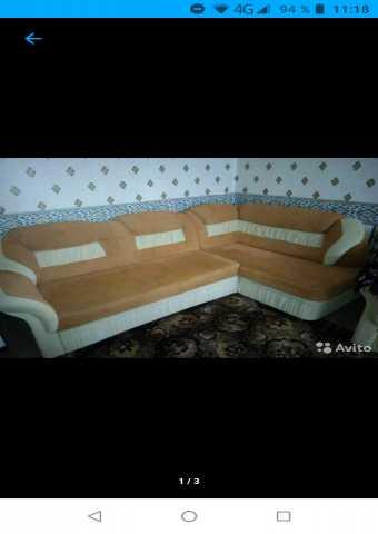 Продам Угловой диван и 2 кресла