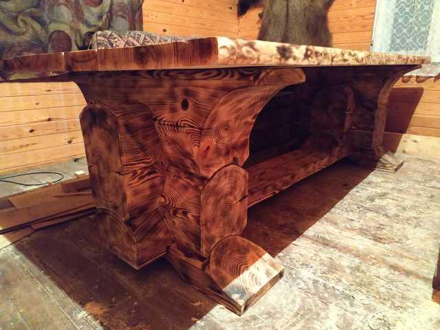 Продам Садовая мебель из дерева. Стол, скамейка
