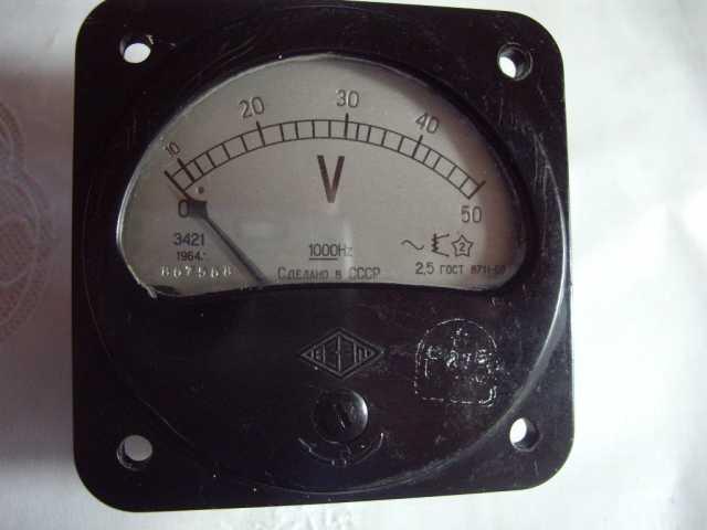 Продам: Вольтметр Э421 шкала 0-50 вольт