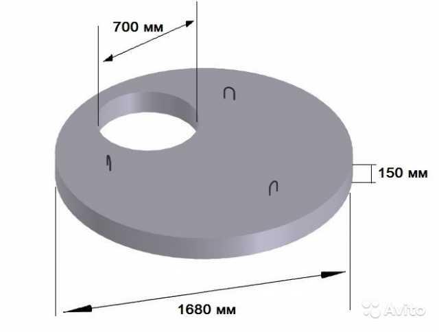Продам Плита перекрытия кольца пп 15.9 (1.5м) ж