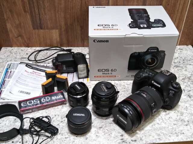 Продам Canon 6d Mark II с объективом 24-105 f