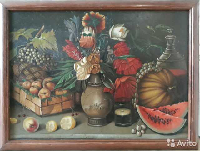 Продам Картина. Натюрморт, х\м, 1950 г