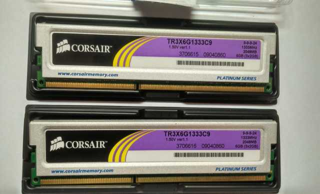 Продам: DDR3 CORSAIR 2GB TR3X6G1333C9 1333Mhz