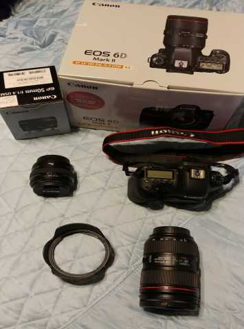 Продам Canon EOS 6D Mark II 26.2MP Цифровая зер
