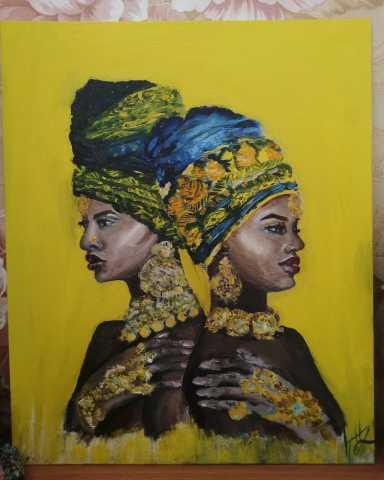 """Продам Картина маслом, """"Африканские мотивы"""""""