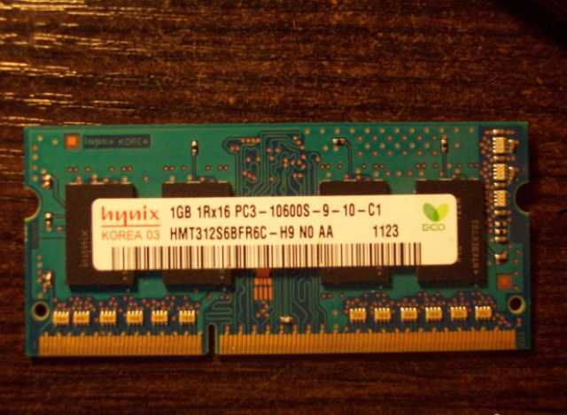 Продам Нов из nbook 1шт 1Gb SO-dimm DDR3 Hynix