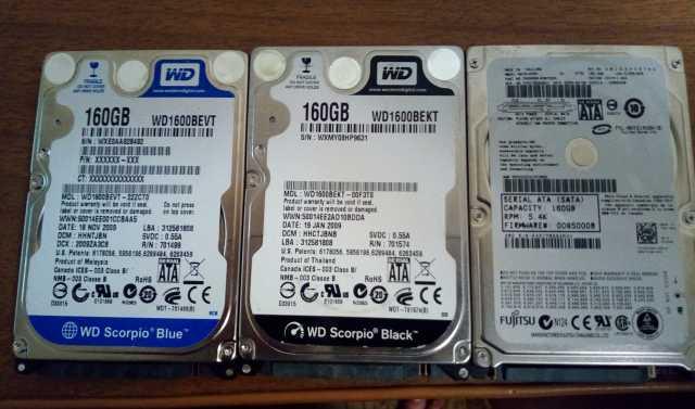 Продам Жесткий диск для ноутбука 160Gb