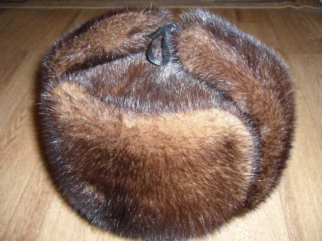 Продам норковая шапка ушанка 58 размер