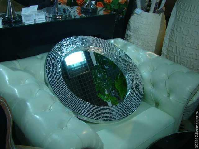 Продам зеркала вазы в мозаичной оправе