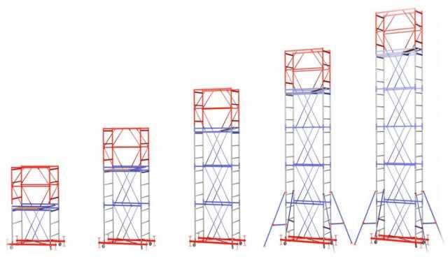 Продам: Вышка-тура 0.7х1.6 м (5 секций + б.блок)