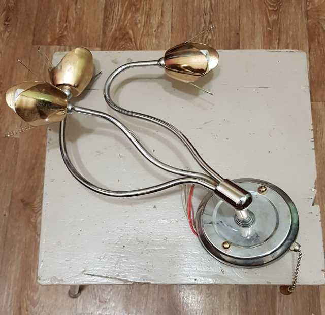 Продам: Бра, светильник латунный, цоколь E14,б/у