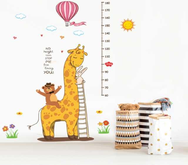 Продам Наклейка-Ростомер многоразовая «Жираф»