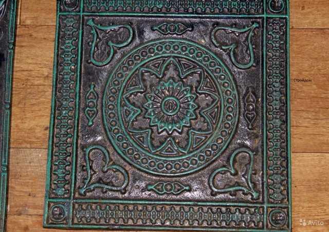Продам Чугунные напольные плиты 18 век