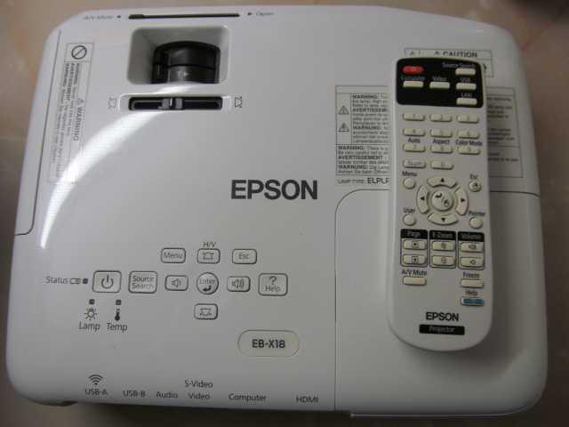 Продам Проектор Epson EB-X18, практически новый