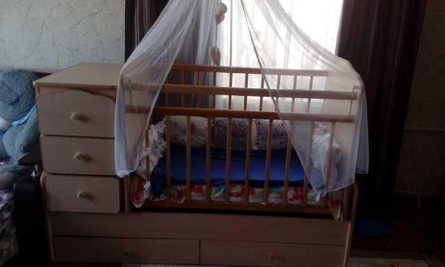 Продам Кроватка+балдахин+бортики