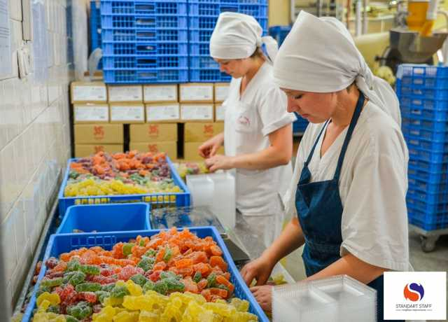 Требуется: Упаковщики на производство мармелада