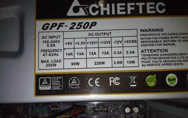 Продам Блоки питания GPF-250P 250Вт, SS-300TGW