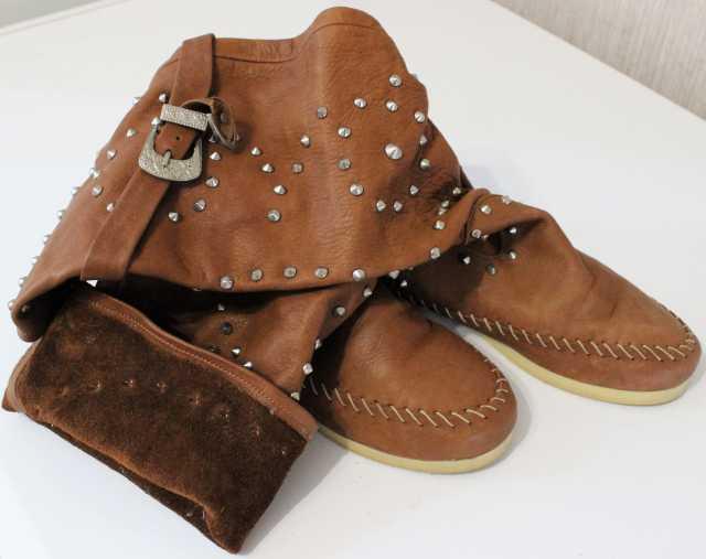 Продам Мягкие кожаные сапожки